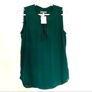 Pleione women's Sleeveless Green Tops Size Small